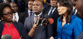 RDC: l'ambassadrice américaine, Nikki Haley, exige des élections en 2018