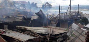 Bukavu: un incendie ravage près de deux cents maisons dans le quartier de Nyalukemba